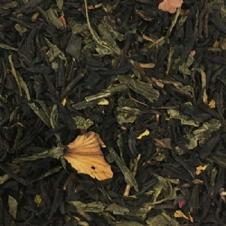 Rose-flavoured black tea and green bancha tea in tin 100 grams tin Rosa d'Inverno La Via del Tè