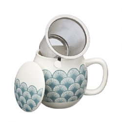 Ventagli Camilla Tea mug with lid and stainless steel infuser, 0,35 lt, Celadon Green