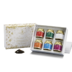 Christmas Teas Gift Box Flavor: Racconto di Natale, Green Christmas, White Christmas, Orange Christmas, Christmas Chocolate, Christmas in Love  La Via del Tè
