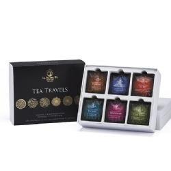Tea Travels gift box, Gift box X 30 transparent gourmet tea bags  La Via del Tè