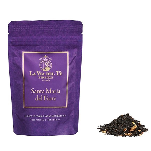 Santa Maria del Fiore Leaf tea black Flavoured teas and blends Firenze in 50 grams bag