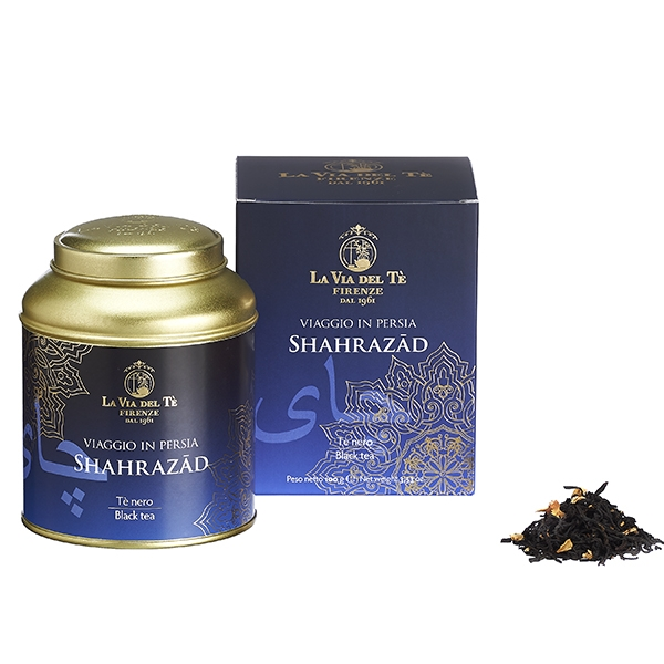 Shahrazad Leaf tea Viaggio in Persia in 100 grams tin Tea Travels Collection