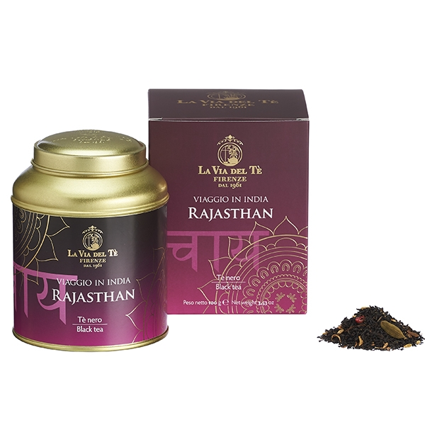 Rajasthan Leaf tea Viaggio in India Tea Travel Collection 100 grams tin