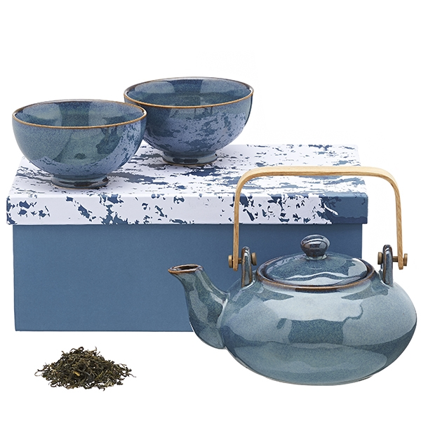 Teapot set: teapot (750 cc) + 2 cup with saucer (250 cc)