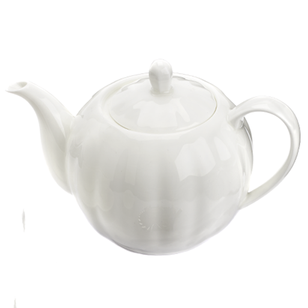 Pumpkin bone China Teapot with s/steel infuser 500 cc with golden details La Via del Tè